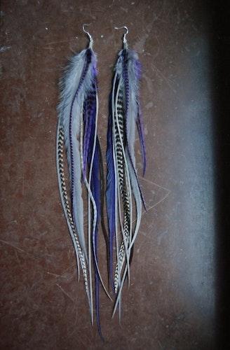 The Joker Feather earrings