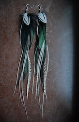 The Penguin Feather earrings