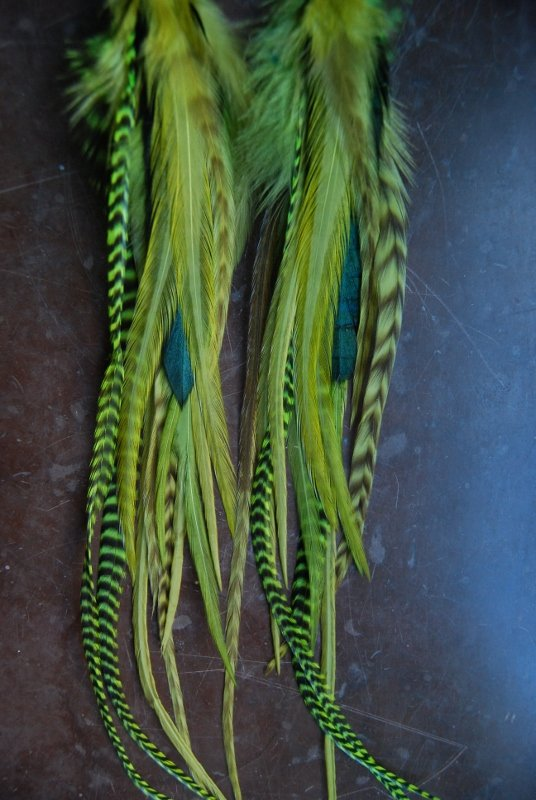 The Riddler Feather earrings