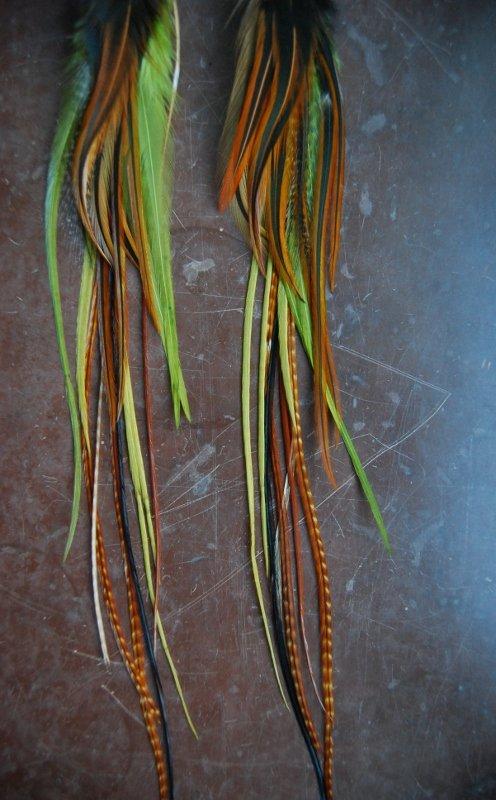 Woods Feather earrings
