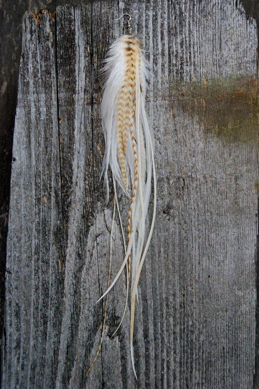 Sugar Sugar Single Feather earring
