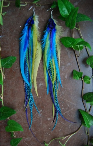 Space Feather earrings