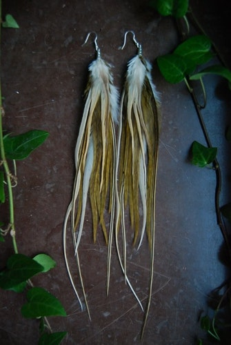 Secret of the woods feather earrings