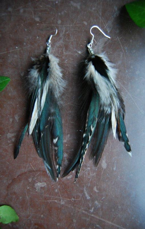 Roxanne feather earrings