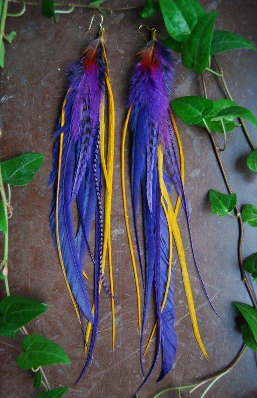 Lulu Feather earrings