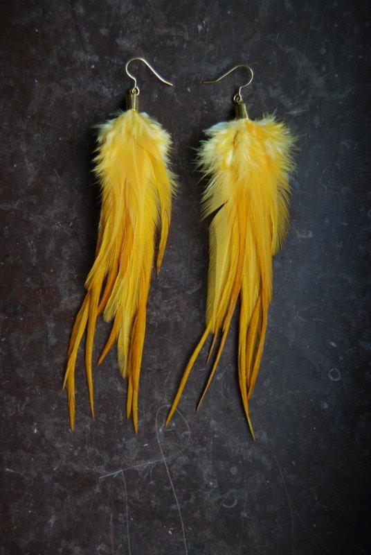 Keep Shining Feather Earrings