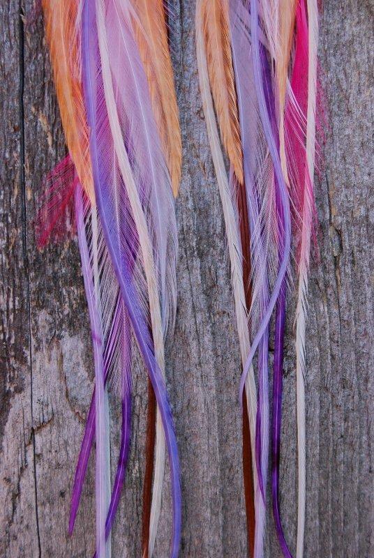 Summer fling feather earrings