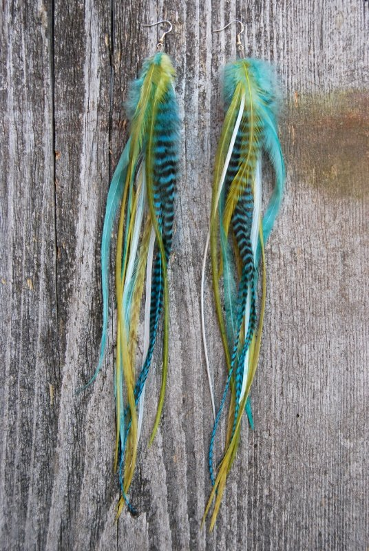 Serenity Feather earrings