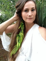 Bird of paradise feather earring