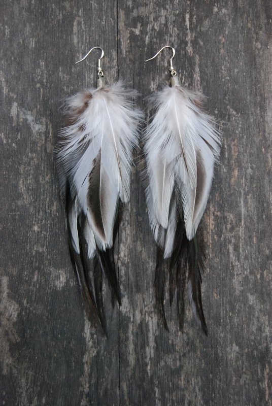 Power feather earrings