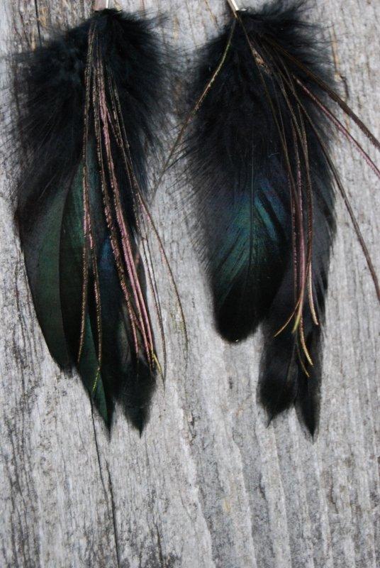Gleam Feather earrings