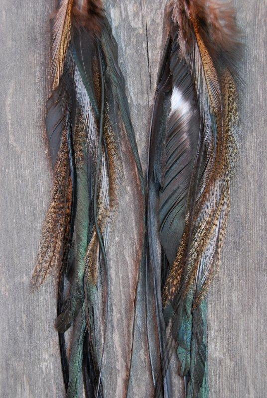 Cheetah feather earrings
