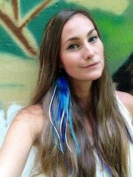 Tahiti single feather earring