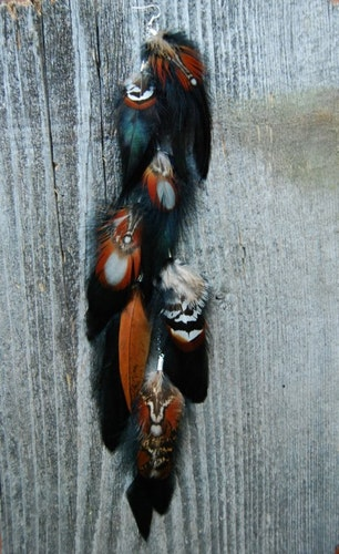 Red Panda Feather Earring