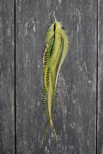 The Riddler Single feather earring