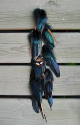 Jungle Drum Feather earring