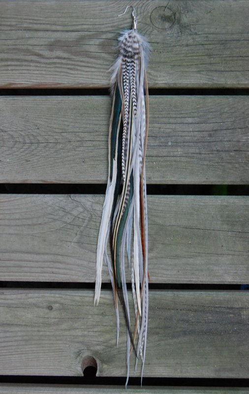 Luxe Single Feather Earring