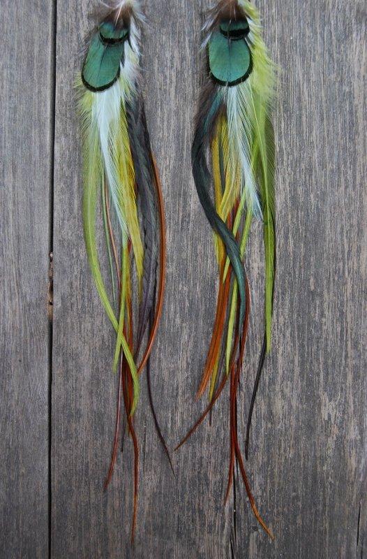 Mermaid life Feathers earrings