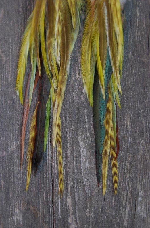 Spike Feather earrings