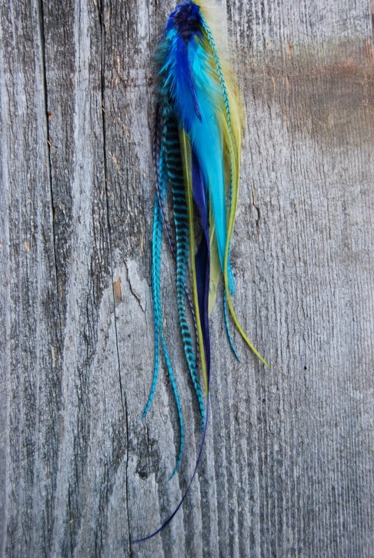 Space single feather earring