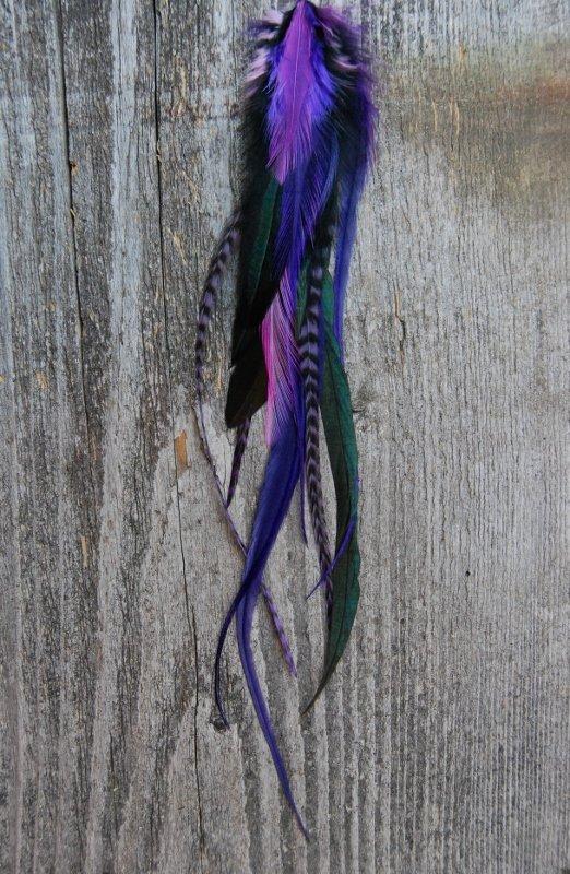 Lavender fields Single feather earring