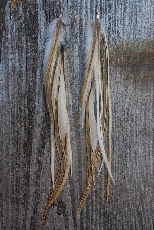 Beach Feather Earrings