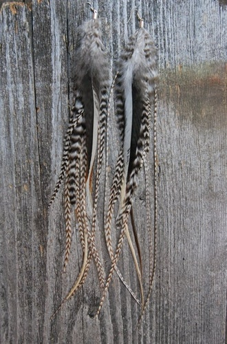 Yin Yang Feather Earrings