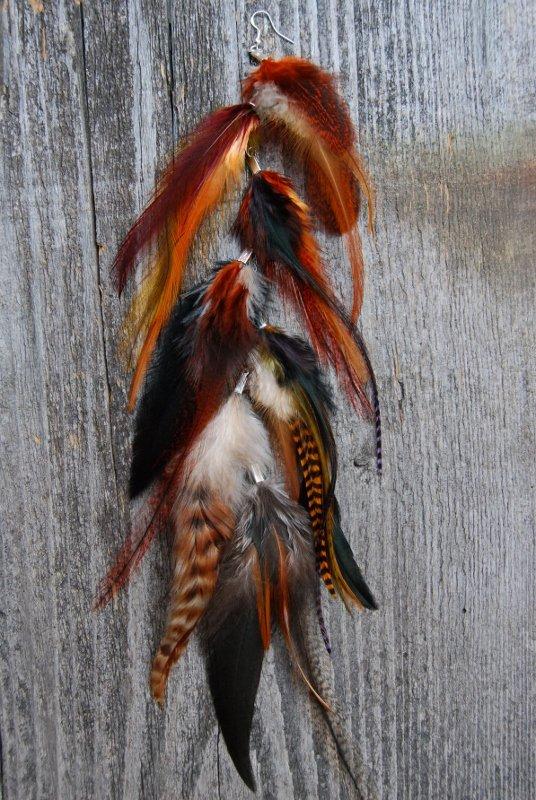 Autumn Feather earring