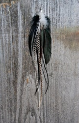 Dance single feather earring