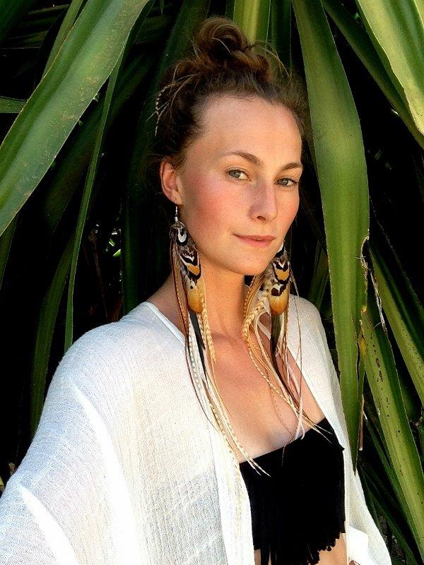 Fanny Feather Earrings