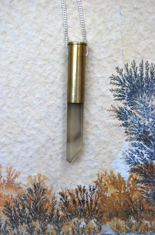 Smoky quartz crystal bullet #1