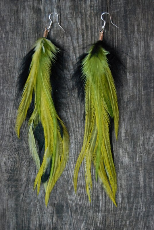 Greenery Feather Earrings
