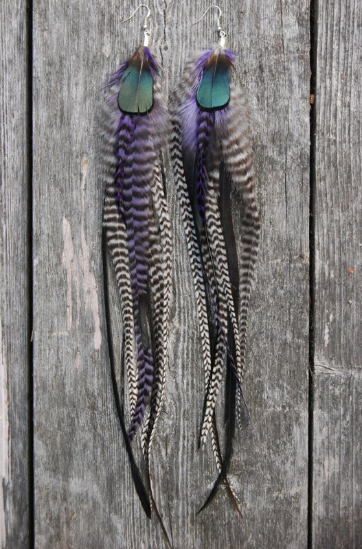 Good vibes Feather earrings