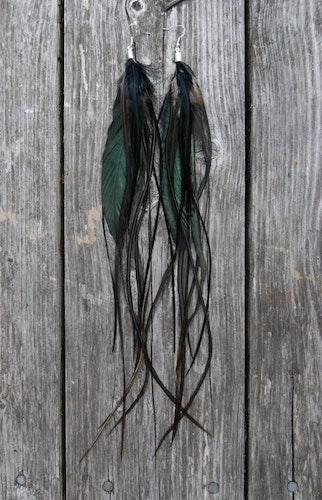 Shimmer Feather earrings