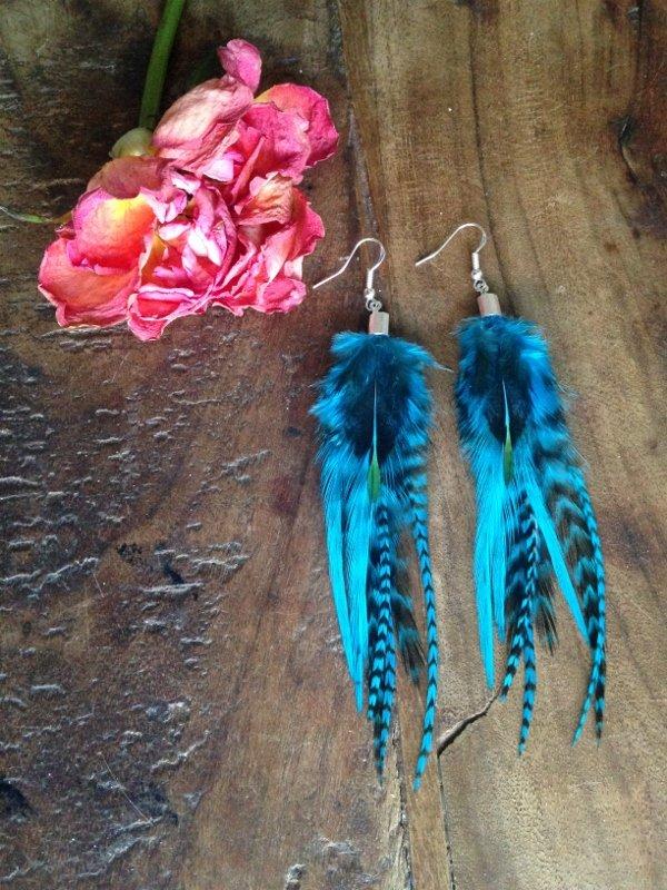 Coachella Feather Earrings