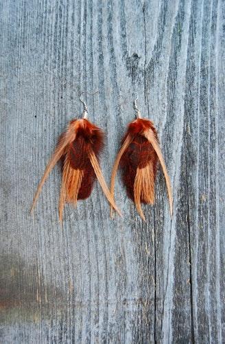 Beetle Feather Earrings