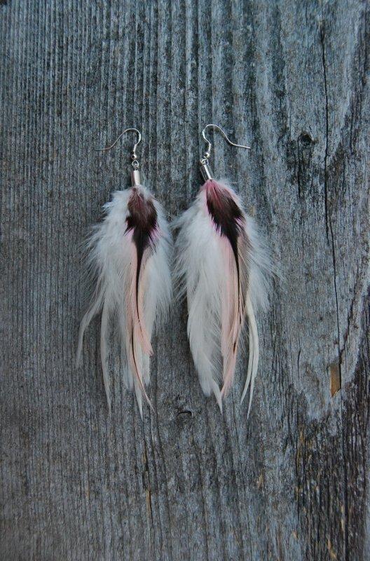 Fair lady Feather Earrings