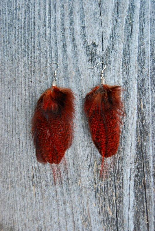 Henna Feather Earrings