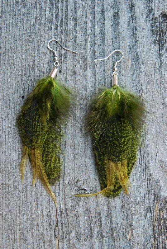 Moss Feather Earrings