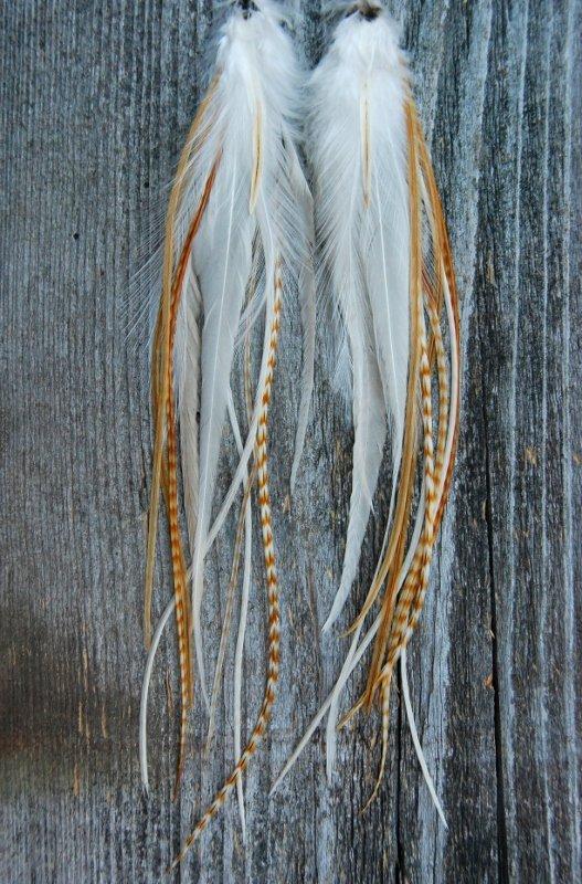 Fields of gold Feather Earrings