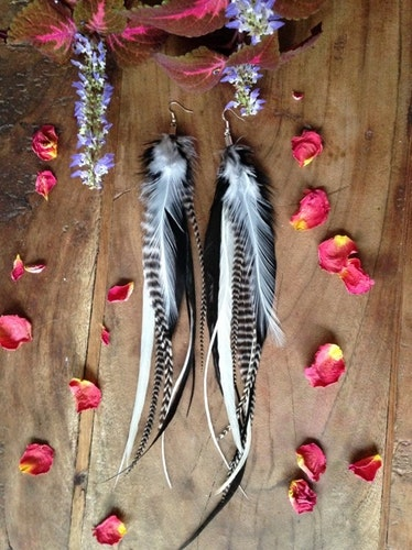 Ready for anything Feather earrings