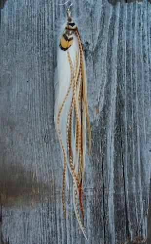 Lion Single Feather Earring