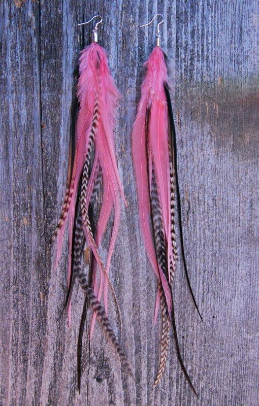 GRL PWR Feather earrings
