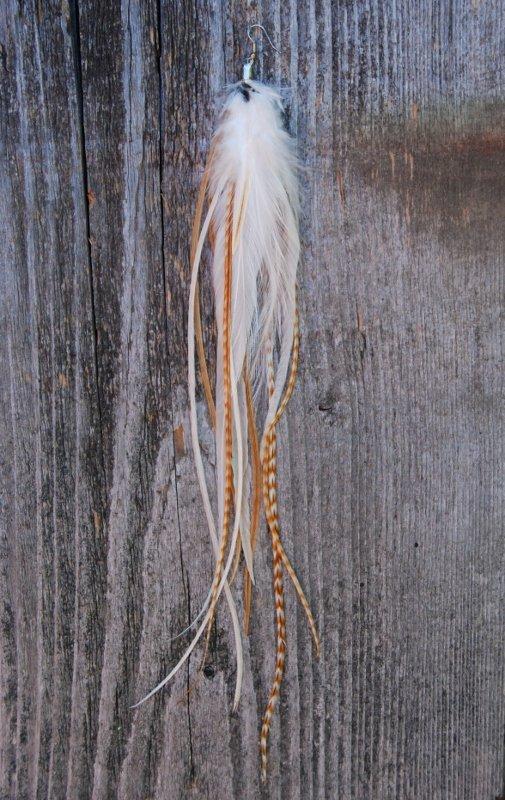 Extra Långt Fjäderörhänge Signel #1905
