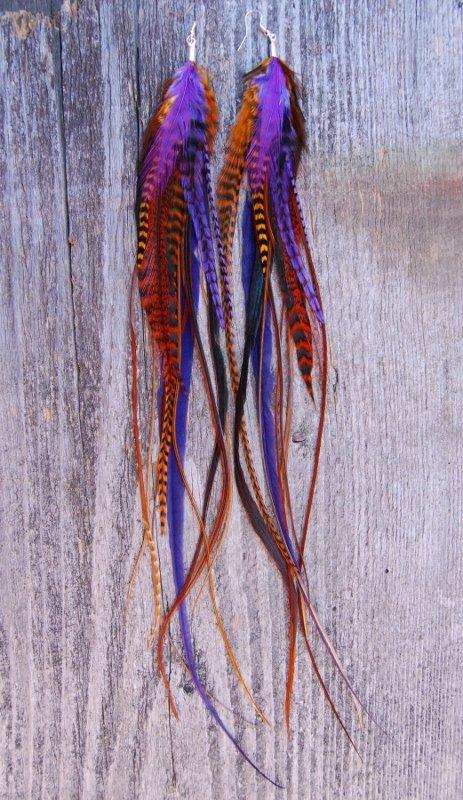Warm Embrace Feather earrings