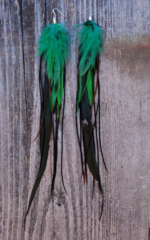 Sprout Feather earrings