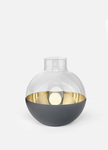 Skultuna Pomme mörkgrå vas, medium