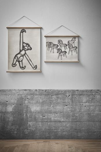 """Kay Bojesen """"Zebra"""" vepa i canvas"""