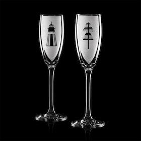 "Niklas Orginella ""Skärgård"" 2 st Champagneglas"