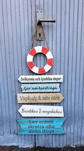"""Stikkan Design """"Livbojskylt"""" Slutsåld för säsongen"""